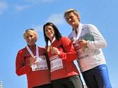 2010. Barbora Špotáková s bronzovou medailí z mistrovství Evropy v Barceloně