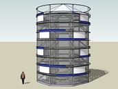 Návrh parkovacího domu pro kola, který vyroste na hradeckém Riegrově náměstí.