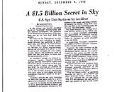 Článek ve Washington Post z roku 1973 poprvé uveřejnil podrobnosti o National