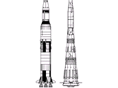 Rakety Saturn V a N1 (nejsou ve stejnm mtku)