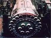 Detail 30 motorů rakety N1