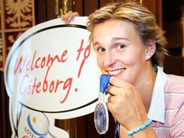 2006. Barbora Špotáková se stříbrnou medailí z mistrovství Evropy ve švédském