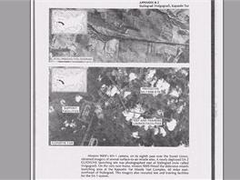 Ukázka popsaných snímků z mise satelitu KH-1 programu Corona nad Sovětským