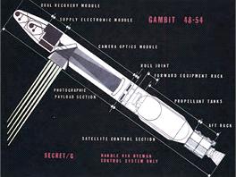 Systém Gambit (verze KH-8) odlétal 54 misí v letech 1966 - 1982