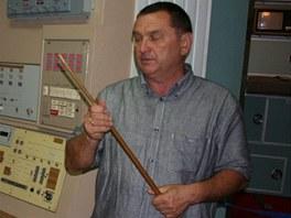Náš průvodce Jurij Vitaljevič, který na základně sám sloužil v hodnosti