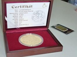 100 dukát Vladislava II. Zlatá pamětní medaile.