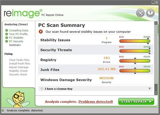 Reimage dokáže obnovit registr a další klíčové komponenty operačního systému