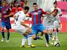 Plze�sk� Michal �uri� se prod�r� obranou Mlad� Boleslavi.