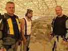 Egon Kulhánek, Pavel Liška a Filip Blažek u vykopávek v Catalhöyüku