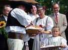 Při slavnosti otevření revitalizovaného Betléma v Hlinsku byli hosté v čele s