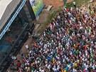 Letecký pohled na Hip Hop Kemp v Hradci Kálové (18. 8. 2012)