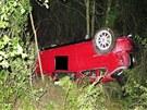 Třiadvacetiletý řidič automobilu honda vyvázl z nehody s lehkými zraněními....