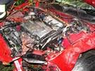 Třiadvacetiletý řidič automobilu honda vyvázl z nehody s lehkými zraněními.