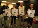 Red Hot Chili Peppers dostali po koncert� v Praze 27. 8. 2012 zlatou desku...