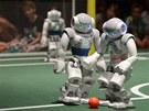 Robotí fotbalový zápas (Ideen Park v německém Essenu)