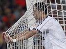 JE�T� SE NETREFIL. Cristiano Ronaldo z Realu Marid po neprom�n�n� �anci.