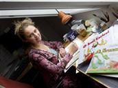 Výtvarnice Lucie Seifertová má stoly dva, je to proto, že má dvě pracovny.
