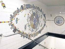 Petr Sís: Mozaika pro newyorské metro 2005 - Petr Sís: Mozaika pro