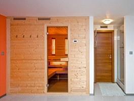 Sauna v relaxační části domu