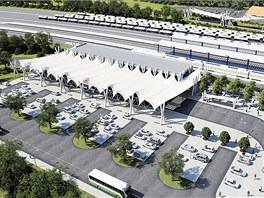 Vizualizace předpokládané budoucí podoby havířovského nádraží.