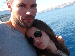 Luk� Hejl�k na dovolen� s p��telkyn� Ane�kou