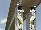 Finální verze vybraných návrhů pro pilíře Nuselského mostu.