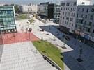 Nové náměstí a dvě přilehlé ulice na Nové Karolině v Ostravě.