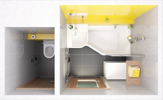Be Happy, koncept firmy Ravak vyřeší na malém prostoru koupání i sprchování.