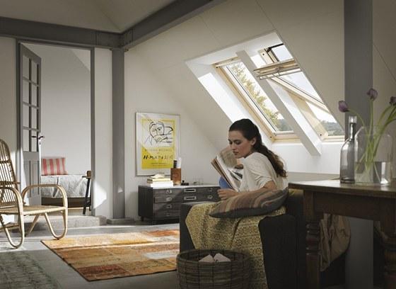 Správnou dispozici místnosti s dobrými proporcemi a výhledem stačí jen doplnit