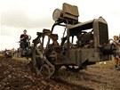 Vrcholem v�ak byla ukázka orby historickým traktorem Excelsior z roku 1927,...