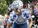 Alejandro Valverde v horské 14. etapě Vuelty.