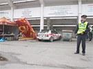 Na zlínské Barum Rally vylétl z trati vůz maďarské posádky. Stalo se to v...