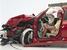 Crashtest s malým překrytím BMW řady 3