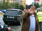 Jel velmi agresivně, říká o řidiči na fotce Jiří Novák.
