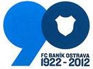 Logo devadesátého výročí od založení Baníku Ostrava.