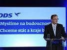 Petr Nečas při zahájení kampaně pro podzimní volby