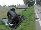 Nehoda mezi Hradcem Králové a Chlumcem nad Cidlinou (3. 9. 2012)