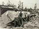 Éra velkotěžby kamene začala v Mrákotíně po roce 1870. Mrákotínská žula se...