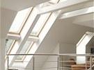 Otveřít prostor do krovu dává možnost vytvořit v interiéru neopakovatelnou