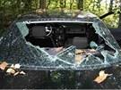 Auto, kter� lupi�i pou�ili p�i p�epaden� �erpac� stanice v D�evohostic�ch.