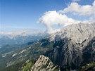 Pohled ze Schartenspitze na masiv Watzmanu