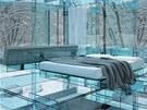 Postel je jedin� polo�ka v dom�, kter� nen� vyroben� pouze ze skla.