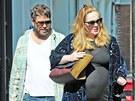Těhotná zpěvačka Adele a Simon Konecki (4. září 2012)