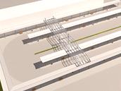 Vizualizace přestupního terminálu v Břeclavi.
