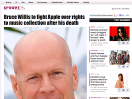 Bruce Willis bude žalovat Apple (The Sun)