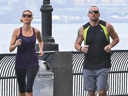 Heidi Klumov� a jej� bodyguard Martin Kristen (11. srpna 2012)