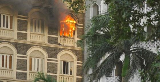 Jedn�m z ter�� �tok� v Mombaji byl v roce 2008 hotel Taj Mahal.