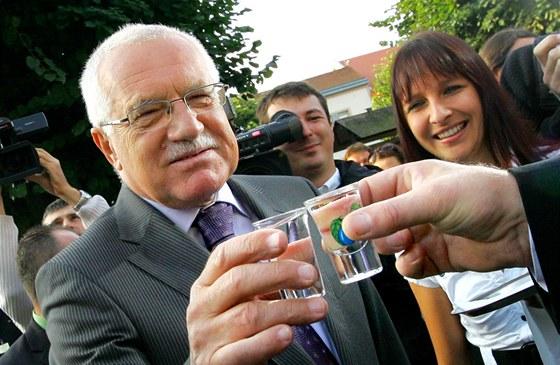 Václav Klaus při návštěvě Ledče nad Sázavou (13. září 2010)