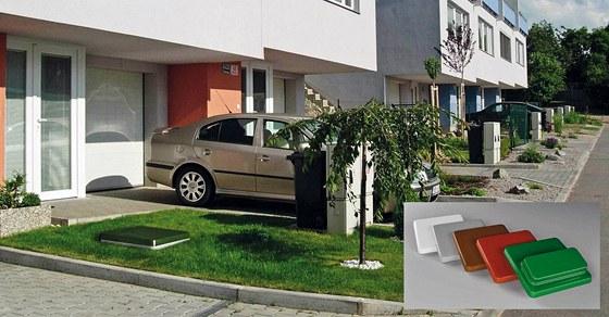 Čistírny odpadních vod nenarušují vzhled okolí domu. Poklopy mají malou