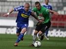 BĚŽECKÝ SOUBOJ. Olomoucký Jan Schulmeister (vlevo) se snaží v rychlosti